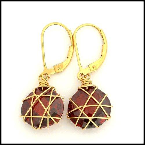 Designer Nina Nguyen 14k Gold Filled Stamp Drop Leaver Back Earrings