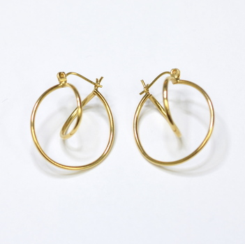 14K Yellow Gold 1.30 Grams High Polished Earrings