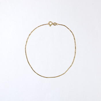 14K Yellow Gold 1.35 Grams Link Chain Style Anklet