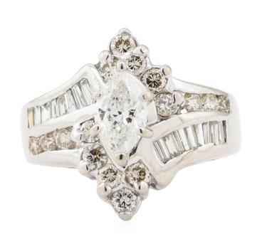 14K White Gold 5.80 Grams Diamond Ring
