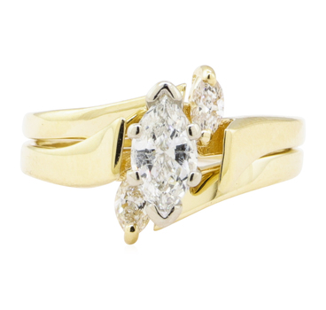 14K Yellow Gold 3.60 Grams Diamond Ring