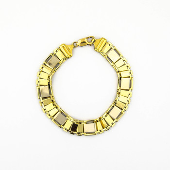 18K Yellow Gold 32.55 Grams Link Chain High Polished Bracelet