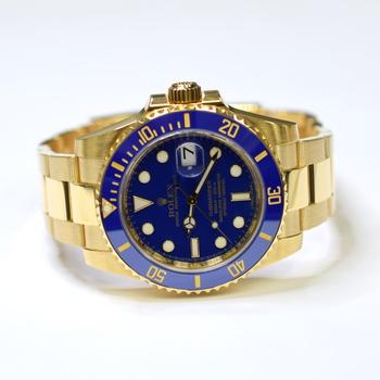 Rolex Submariner 40mm 18K Yellow Gold Ceramic Bezel Mens Watch 116618