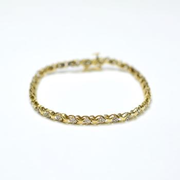 10K Yellow Gold 5.45 Grams Diamond Bracelet