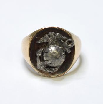 10K Yellow Gold 6.75 Grams High Polished Symbol Ring