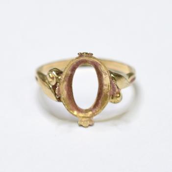 10K Yellow Gold 1.55 Grams Semi - Mount Ring