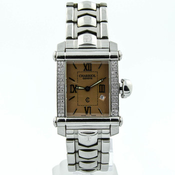 Charriol Lady Columbus Stainless Steel 25mmx30mm Salmon Roman Dial WatchCCSTRHD.79.838