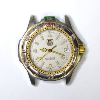 Tag Heuer 36mm Stainless Steel and Gold Plated Mens Watch Without Bracelet