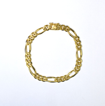 14K Yellow Gold 21.40 Grams Link Chain Bracelet