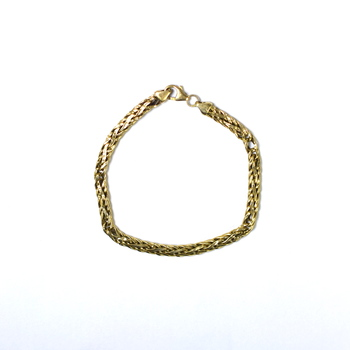 14K Yellow Gold 4.90 Grams Link Chain Style Bracelet