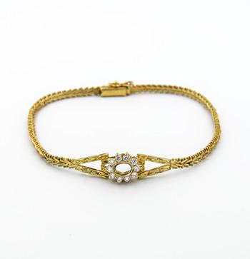 14K Yellow Gold 7.40 Grams Diamond Bracelet Semi - Mount Bracelet
