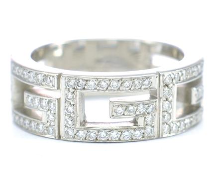 Gucci 18K White Gold 10.72 Grams 0.44 Carat t.w. Diamond Ring