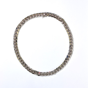 14K White Gold 49.15 Grams High Polished Link Chain Necklace