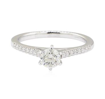 14K White Gold 2.81 Grams 0.80 Carat t.w. Diamond Ring