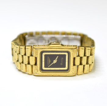 Longines 16x20mm Stainless Steel & Plated Ladies Watch