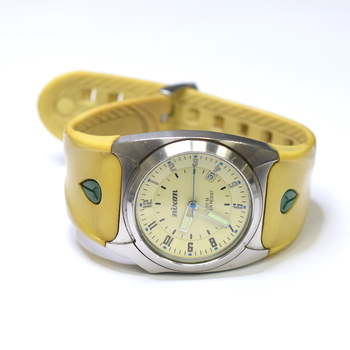 Nixon The Key 39mm Stainless Steel Mens Watch on Rubber Strap
