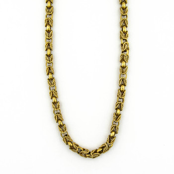 14K Yellow Gold 32.40 Grams Vintage Inspired Link Chain Necklace