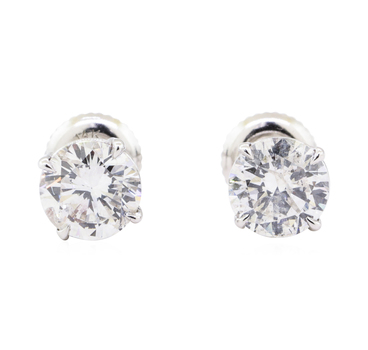 14K White Gold 1.50 Grams Diamond Earrings