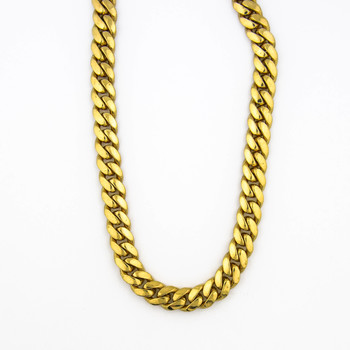 14K Yellow Gold 201.50 Grams Miami Cuban Link Chain Necklace