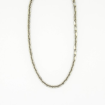 14K White Gold 36.20 Grams Link Chain Necklace