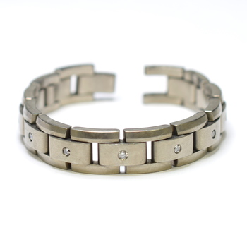 Titanium 30.60 Grams Diamond Bracelet