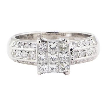 14K White Gold 4.90 Grams Diamond Ring