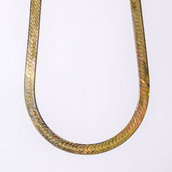 14K Yellow Gold 17.10 Grams Flat Chain Style Necklace