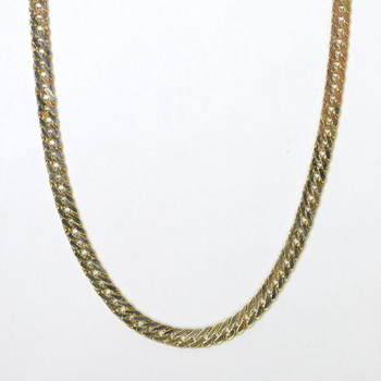 14K Yellow Gold 9.60 Grams Flat Chain Style Necklace