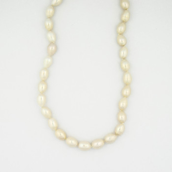 925 Silver 46.05 Grams Fresh Water Cultured Pearl Necklace
