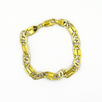 14K Yellow Gold 19.20 Grams High Polished Link Chain Bracelet