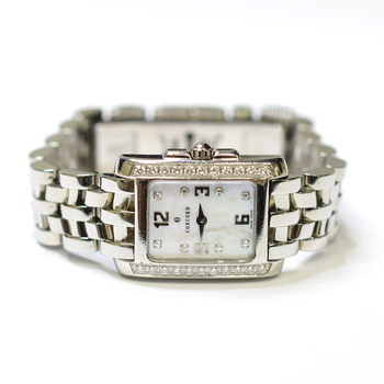 Concord Sportivo 19x21mm Fabric Diamonds Mother of Pearl Watch 14.25.662
