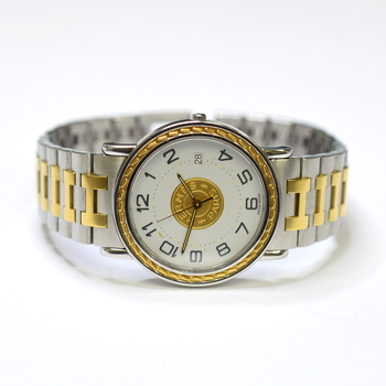 Hermes 34mm Stainless Steel and Gold Plated Watch