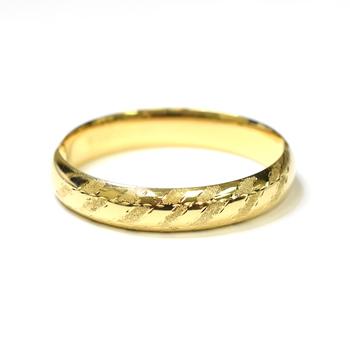 14K Yellow Gold 19.55 Grams Diamond Cut Design Bangle Bracelet