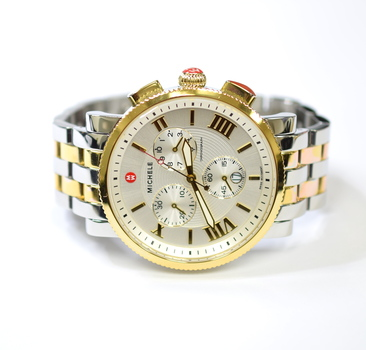 Michele Sport Sail Chronograph 42mm Stainless Steel & 18K Gold Watch