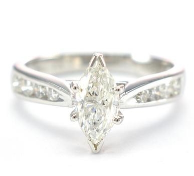 Platinum 5.30 Grams 1.26 Carats t.w. Diamond Lady's Ring