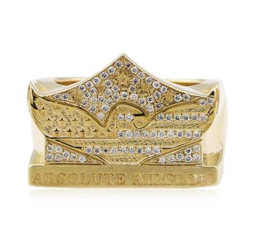 "14K Yellow Gold 17.75 Grams 1.50 Carat t.w. Round Diamond ""Absolute Airflow"" Ring"