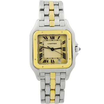 Cartier Panthere Ladies 27mm Cream Dial 18kt Yellow/Steel 183949