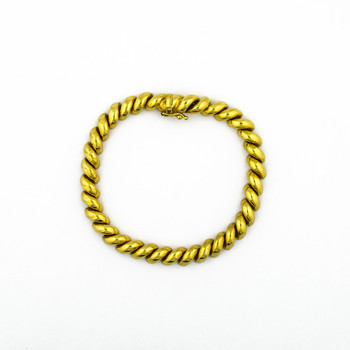 14K Yellow Gold 16.80 Grams High Polished Link Style Bracelet