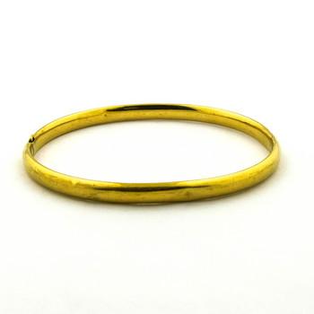 14K Yellow Gold 4.50 Grams High Polished Bangle Bracelet