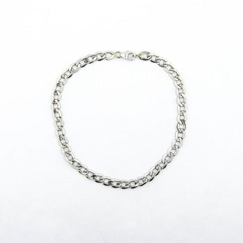 14K White Gold 3.20 Grams Link Chain Style Bracelet