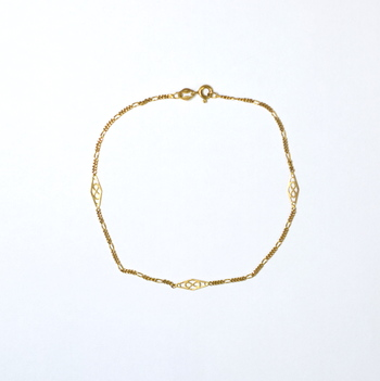 14K Yellow Gold 1.75 Grams High Polished Lady's Anklet