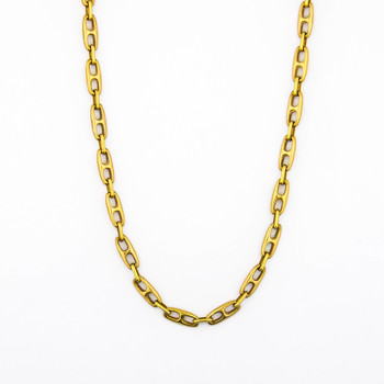 14K Yellow Gold 19.60 Grams Link Chain Necklace