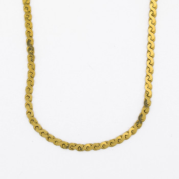 14K Yellow Gold 16.40 Grams Flat Curb Style Chain Necklace