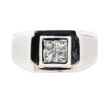 18K White Gold 7.30 Grams Men's Diamond Ring