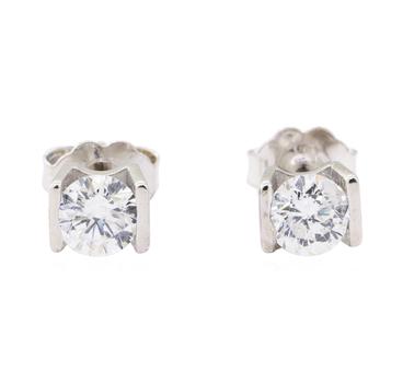 14K White Gold 1.60 Grams Diamond Stud Earrings