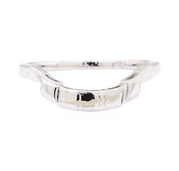 14K White Gold 1.80 Grams Unique Shape Ring Enhancer