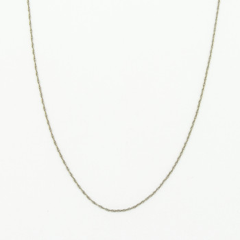 14K White Gold Link Chain Necklace