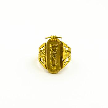 14K Yellow Gold 4.50 Grams Vintage Inspired Ring