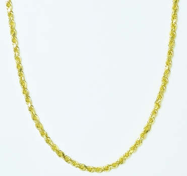 14K Yellow Gold 23.65 Grams Rope Chain Necklace 18 Inches