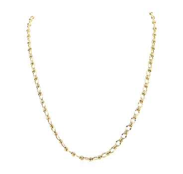 14K Yellow Gold 13.75 Grams Link Chain Style Necklace